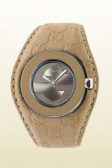 Gucci Uplay Medium Watch with Beige Guccissima Leather Strap - Lyst