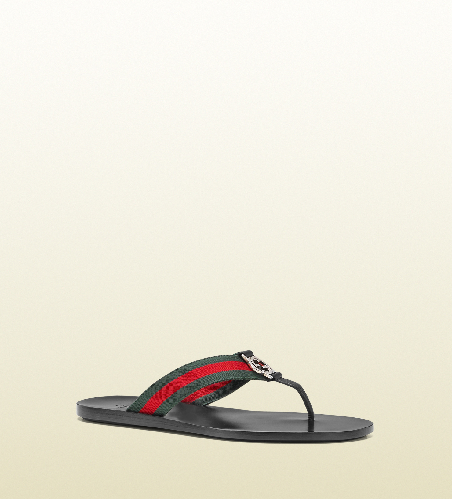 0167a0ccf Lyst - Gucci Signature Web Thong Sandal in Black for Men