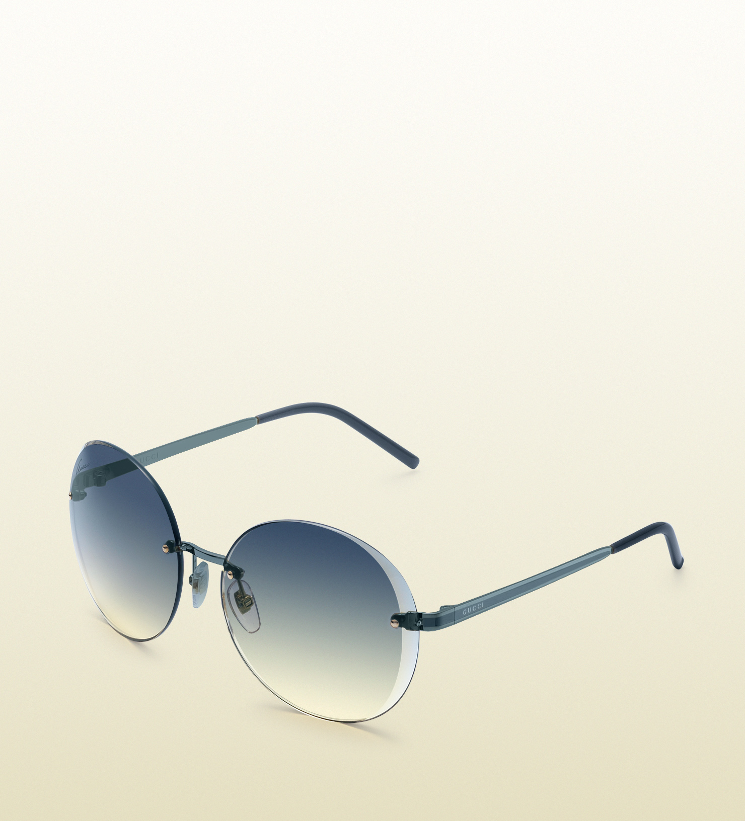 8c8aff3ca7 Lyst - Gucci Flora Round Rimless Sunglasses in Blue for Men