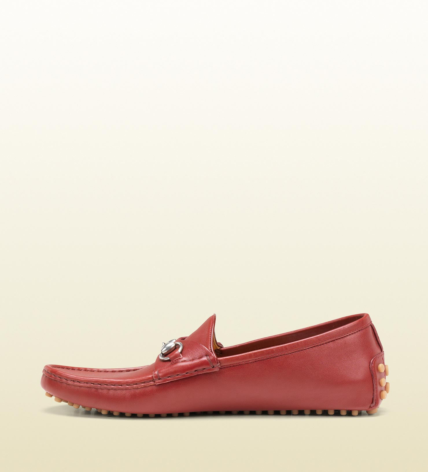 gucci horsebit driver in red for men lyst  gucci house slippers