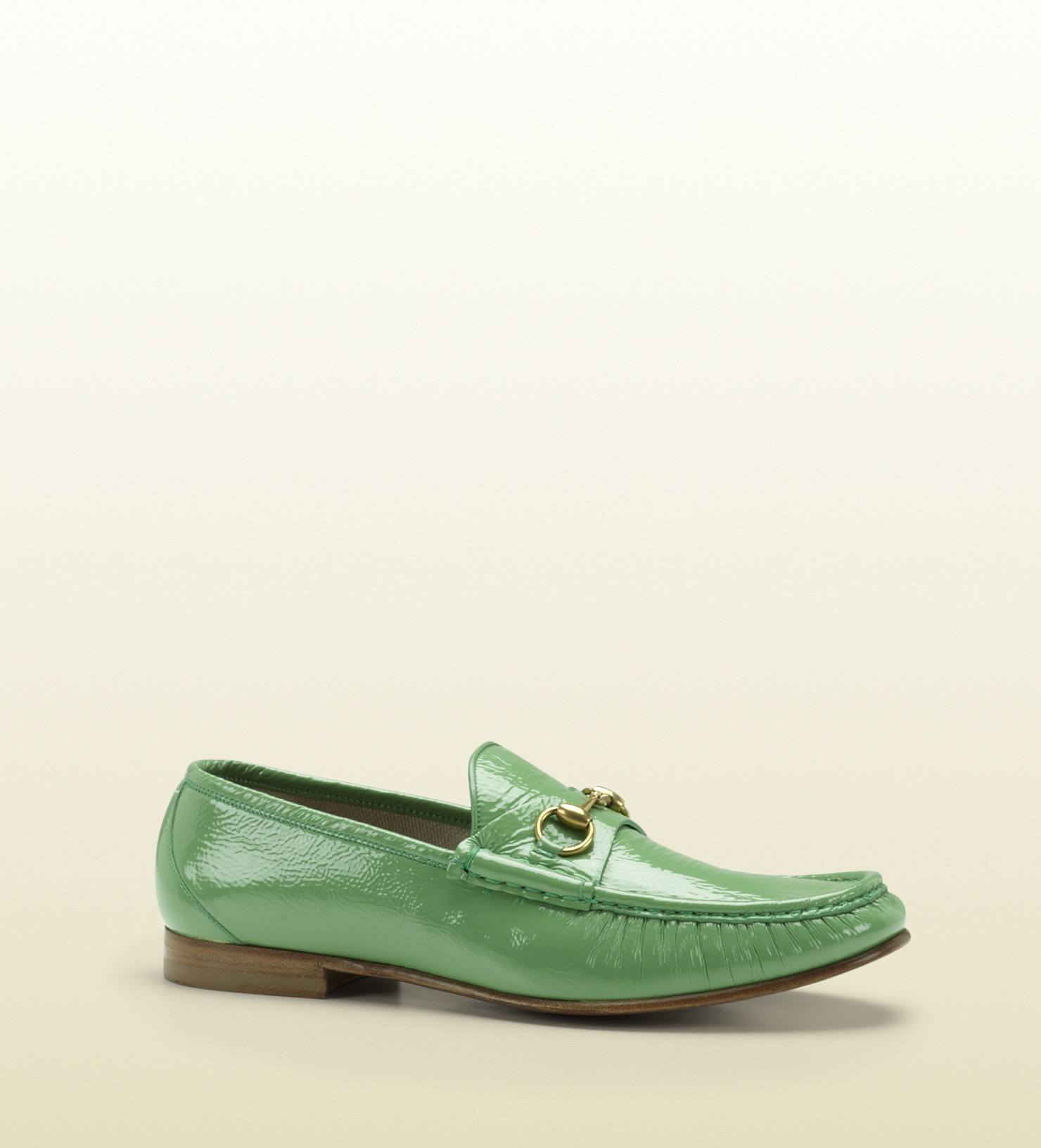 459c75d05ec Gucci Horsebit Loafer in Patent Leather in Green for Men - Lyst