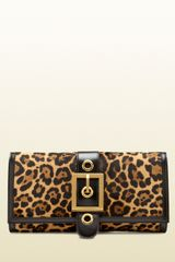 Gucci Lady Buckle Jaguar Print Clutch - Lyst