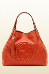 Gucci Soho Leather Shoulder Bag - Lyst
