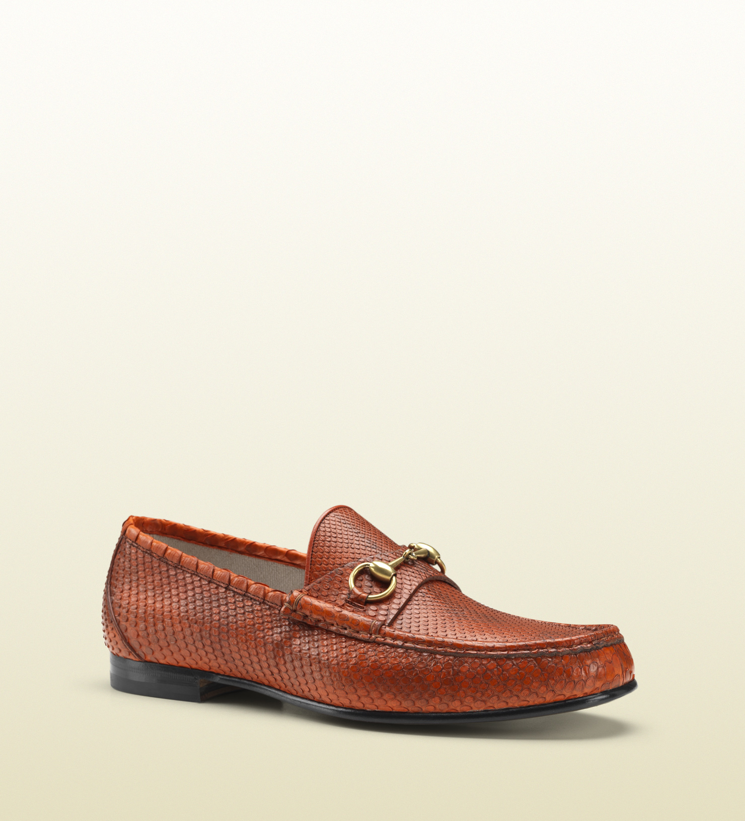 7121c01c8 Gucci 1953 Horsebit Loafer In Python in Brown for Men - Lyst