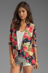Mink Pink Love Letters Soft Blazer in Navy - Lyst