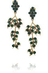 Oscar de la Renta Goldplated Crystal Vine Clip Earrings - Lyst