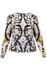 Peter Pilotto Thaalia Printed Silk Blouse - Lyst