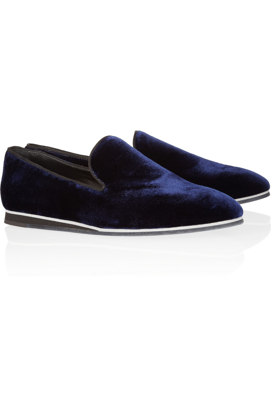 1ef7430845b Lyst - Tod s Velvet Loafers in Blue