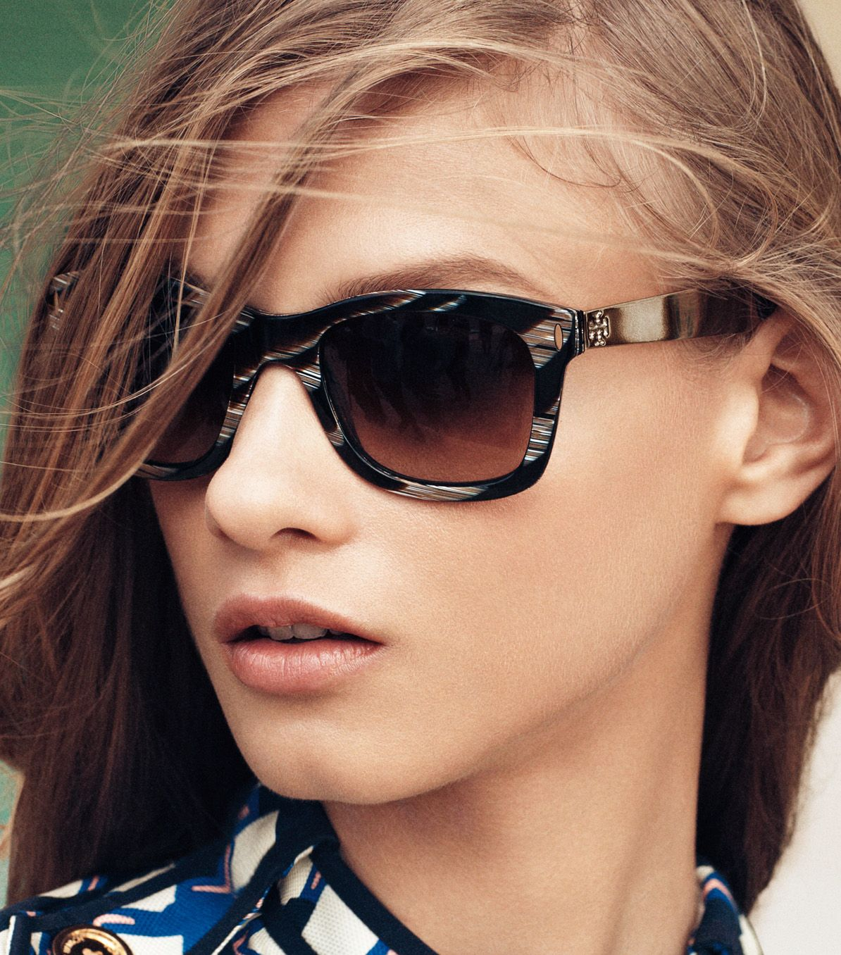 Lyst Tory Burch Vintage Square Sunglasses With Metal