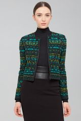 Akris Punto Cotton Blend Jacquard Jacket  - Lyst