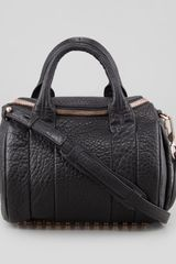 Alexander Wang Rockie Small Cross-body Satchel Bag Black Rose Golden - Lyst