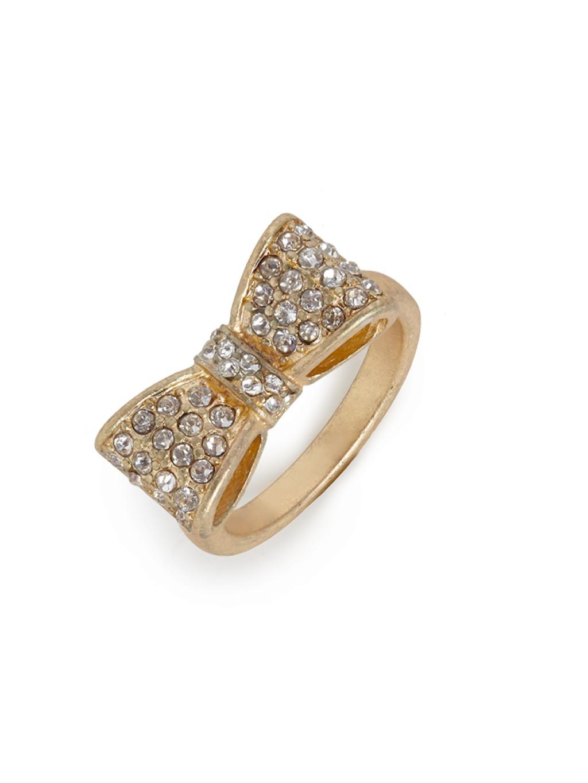 Ring Bow Il Gioiello Personalizzabile Con La Tua Nailart: Baublebar Gold Bow Ring In Gold