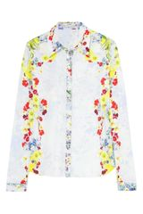 Erdem Cecilia Printed Cotton Shirt - Lyst