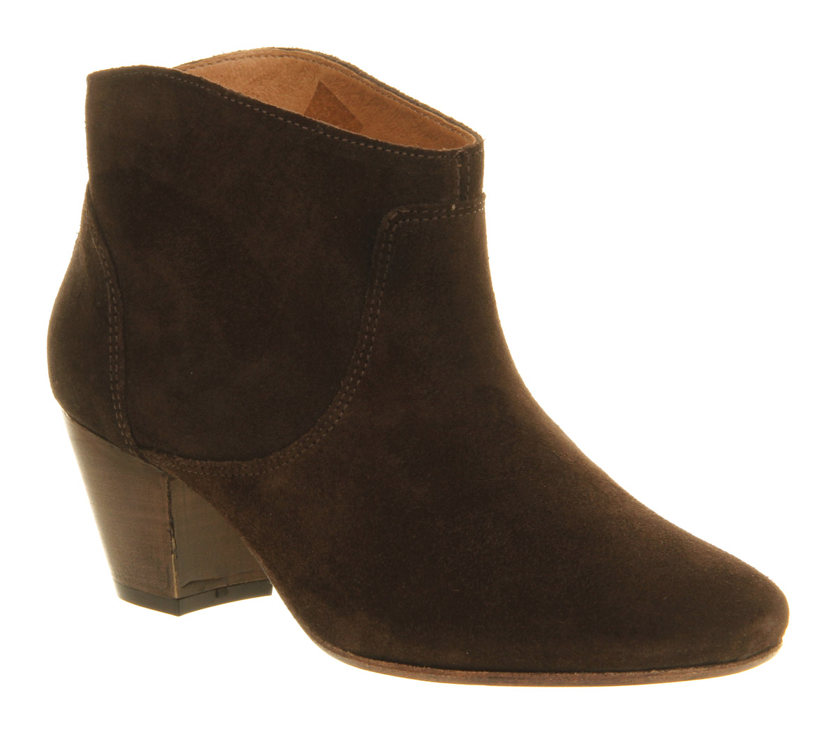 H by hudson Mirar Heeled Ankle Boot Chocolate Brown Suede in Brown ...