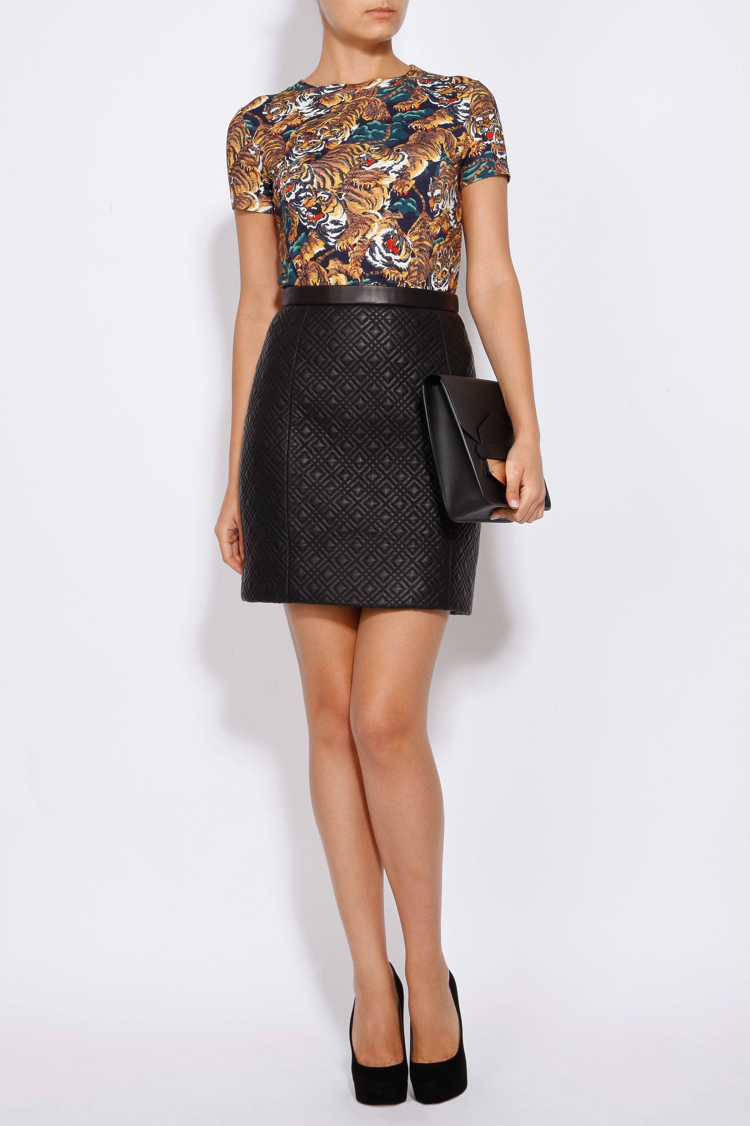 Jason wu Quilted Leather Skirt in Black | Lyst : quilted leather skirt - Adamdwight.com