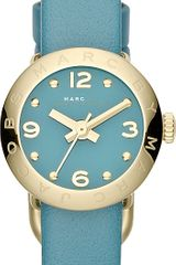 Marc By Marc Jacobs Amy Goldtoned Leather Watch - Lyst