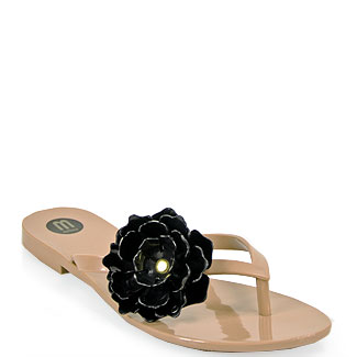 9ce0f616016cf Melissa Harmonic Flower Jelly Flower Thong Sandal in Pink and Black ...