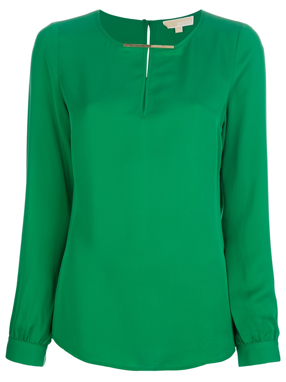 michael michael kors silk blouse in green lyst. Black Bedroom Furniture Sets. Home Design Ideas