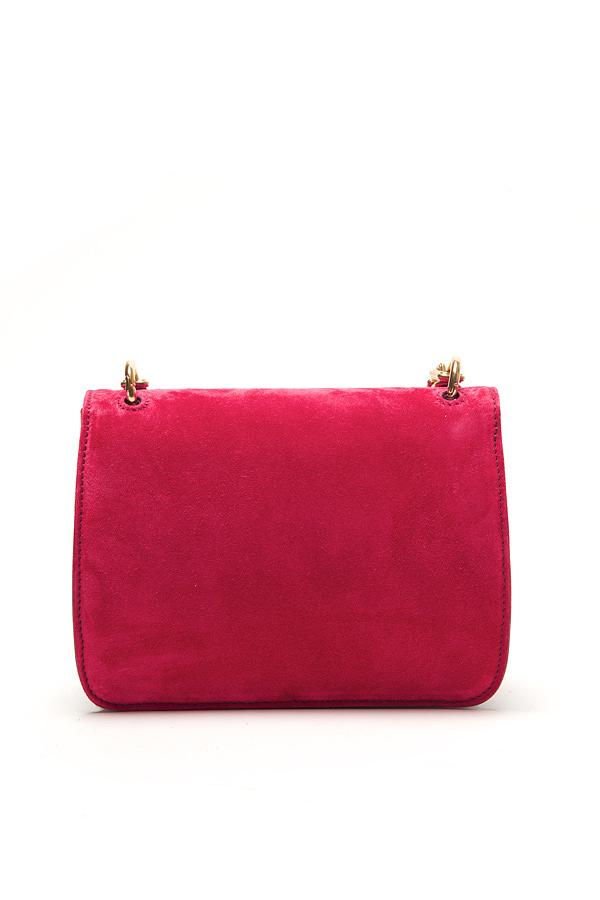 Lyst Nina Ricci Suede Tassel Clutch In Pink