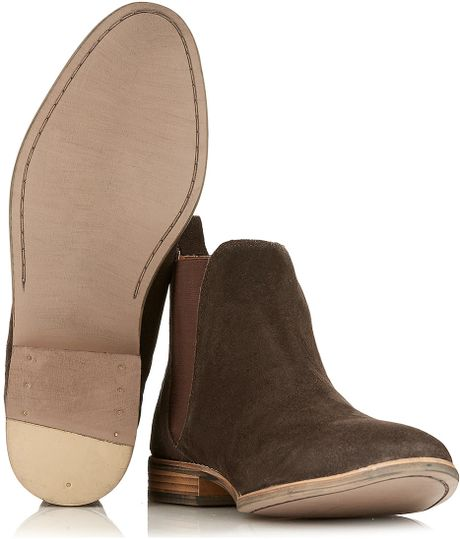 topman brown suede chelsea boots in brown for lyst