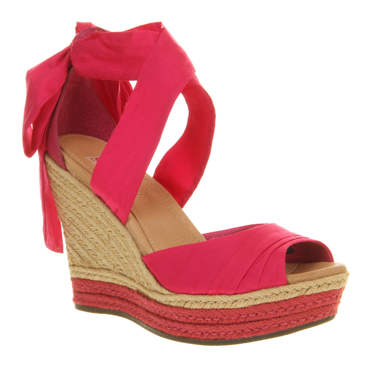 2c91bef2ca48 UGG Lucianna Wedge Sandal Pink Silk in Pink - Lyst