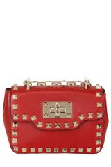 Valentino Rockstud Nappa Leather Bag - Lyst