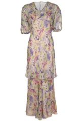 Vintage Floral Two Piece Gown - Lyst