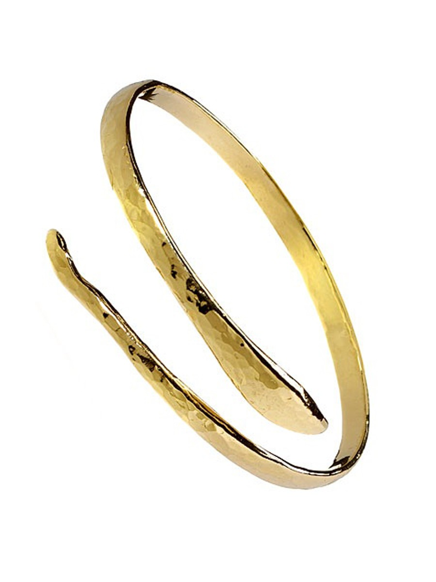 Adina Reyter Snake Bangle in Gold (Brass)