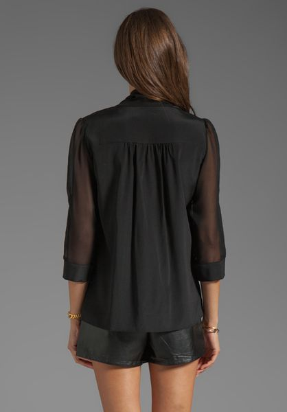 Alice And Olivia Arie Tie Neck Blouse 83