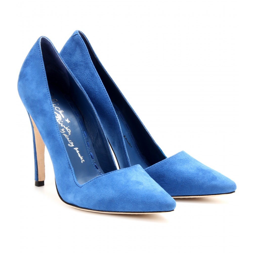 09c01445caf Lyst - Alice + Olivia Dina Suede Pumps in Blue