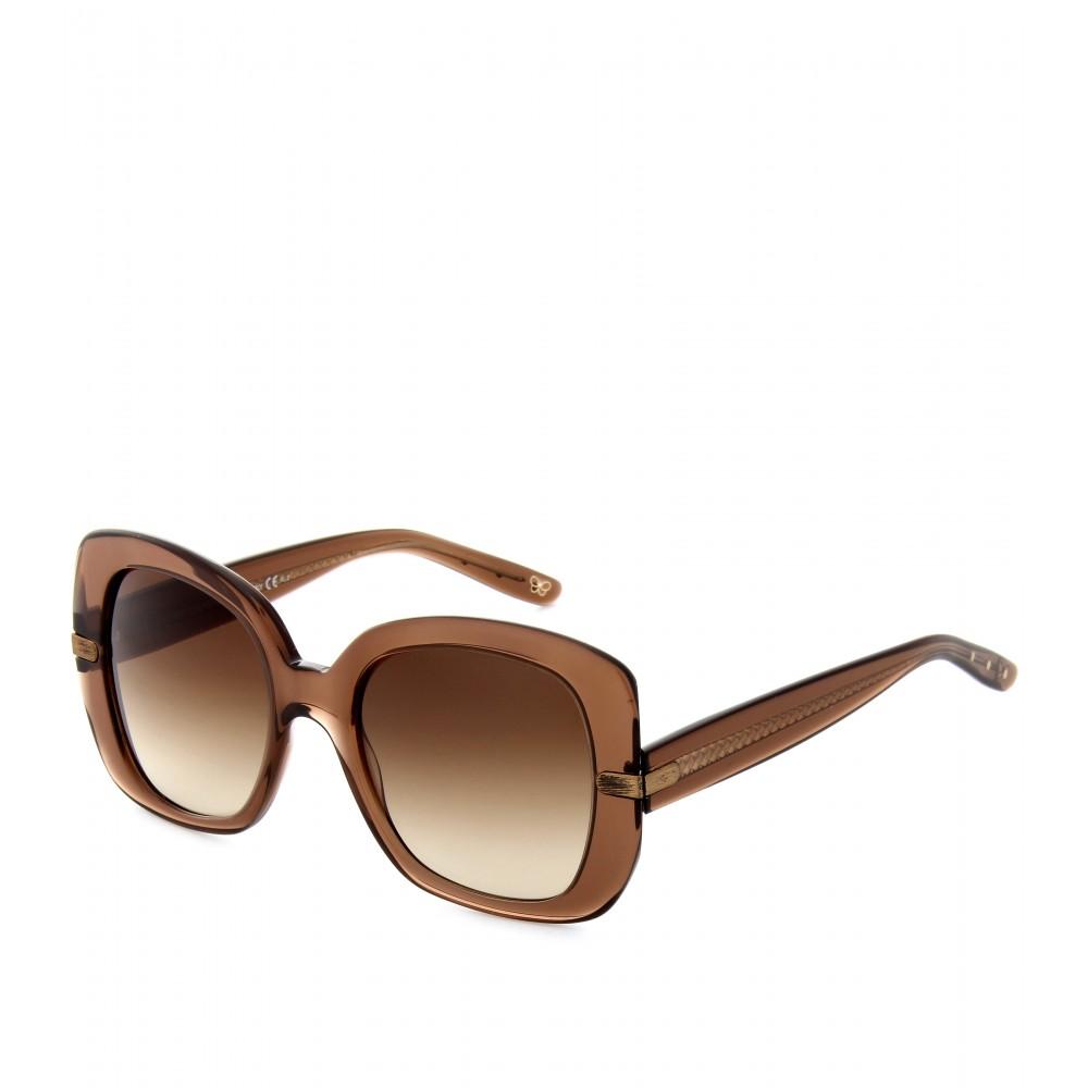 oversized panelled sunglasses - Brown Bottega Veneta CRgHA