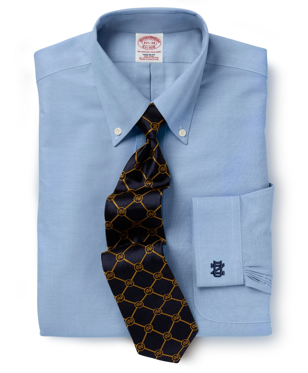 Brooks brothers regular fit dress shirt in blue for men lyst Brooks brothers shirt size guide