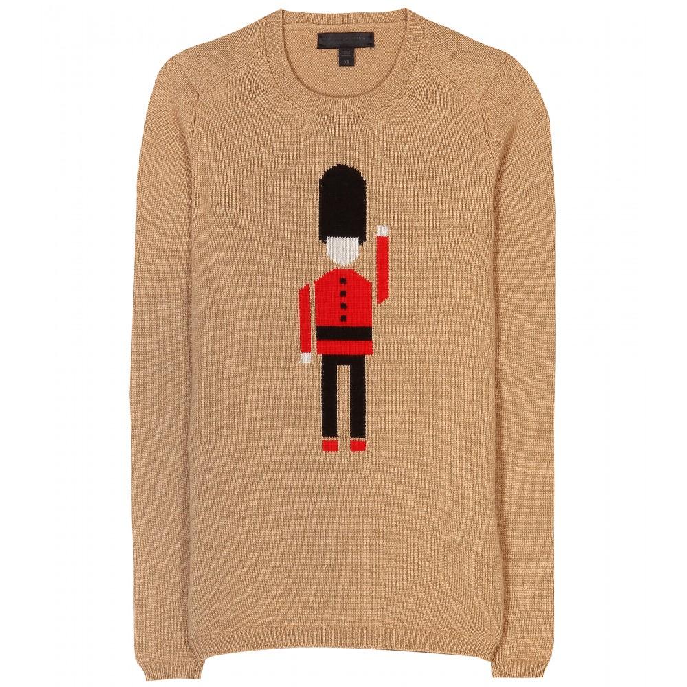 Burberry Prorsum Intarsia Cashmere Sweater In Brown Lyst