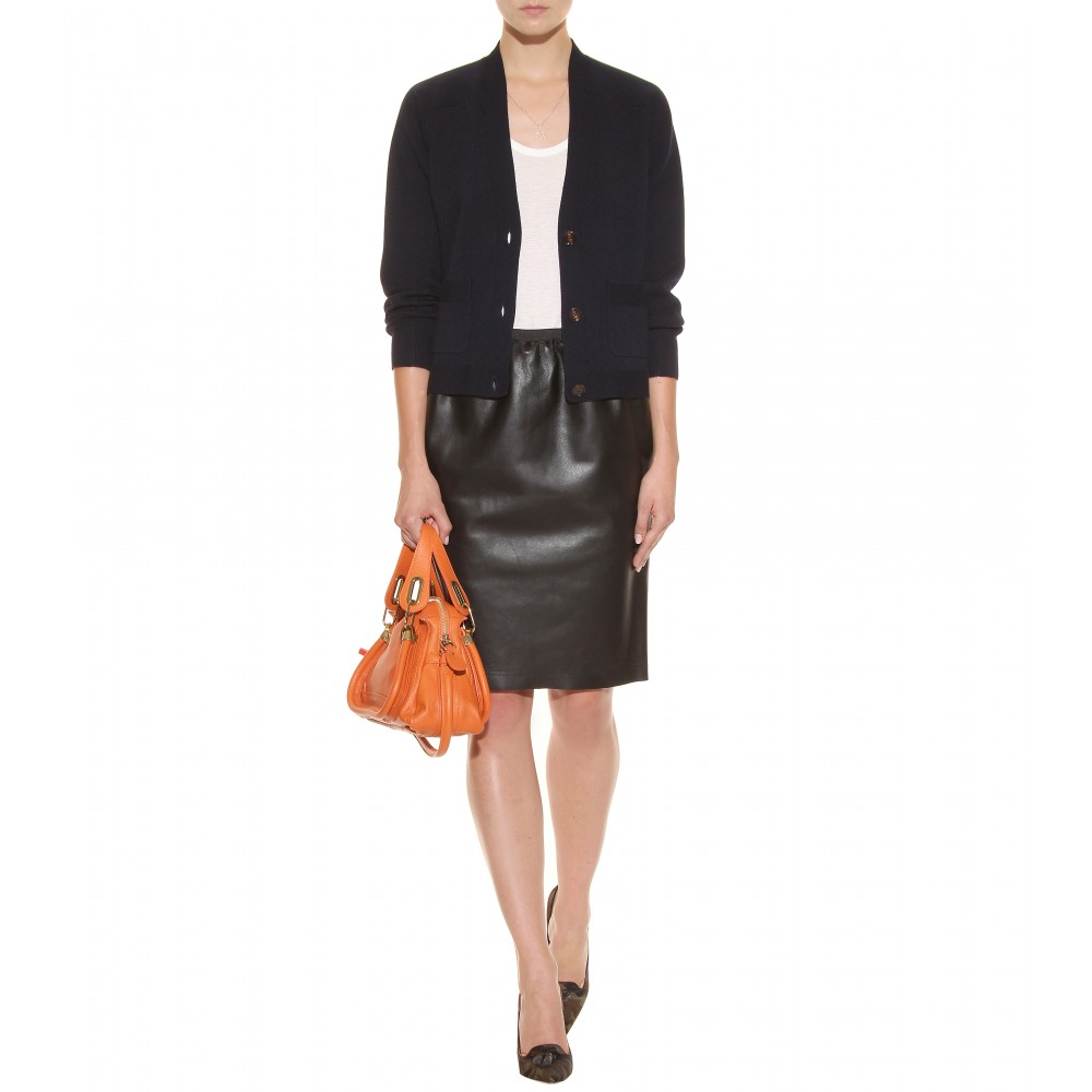 Chlo¨¦ Paraty Mini Leather Shoulder Bag in Orange (indian summer ...