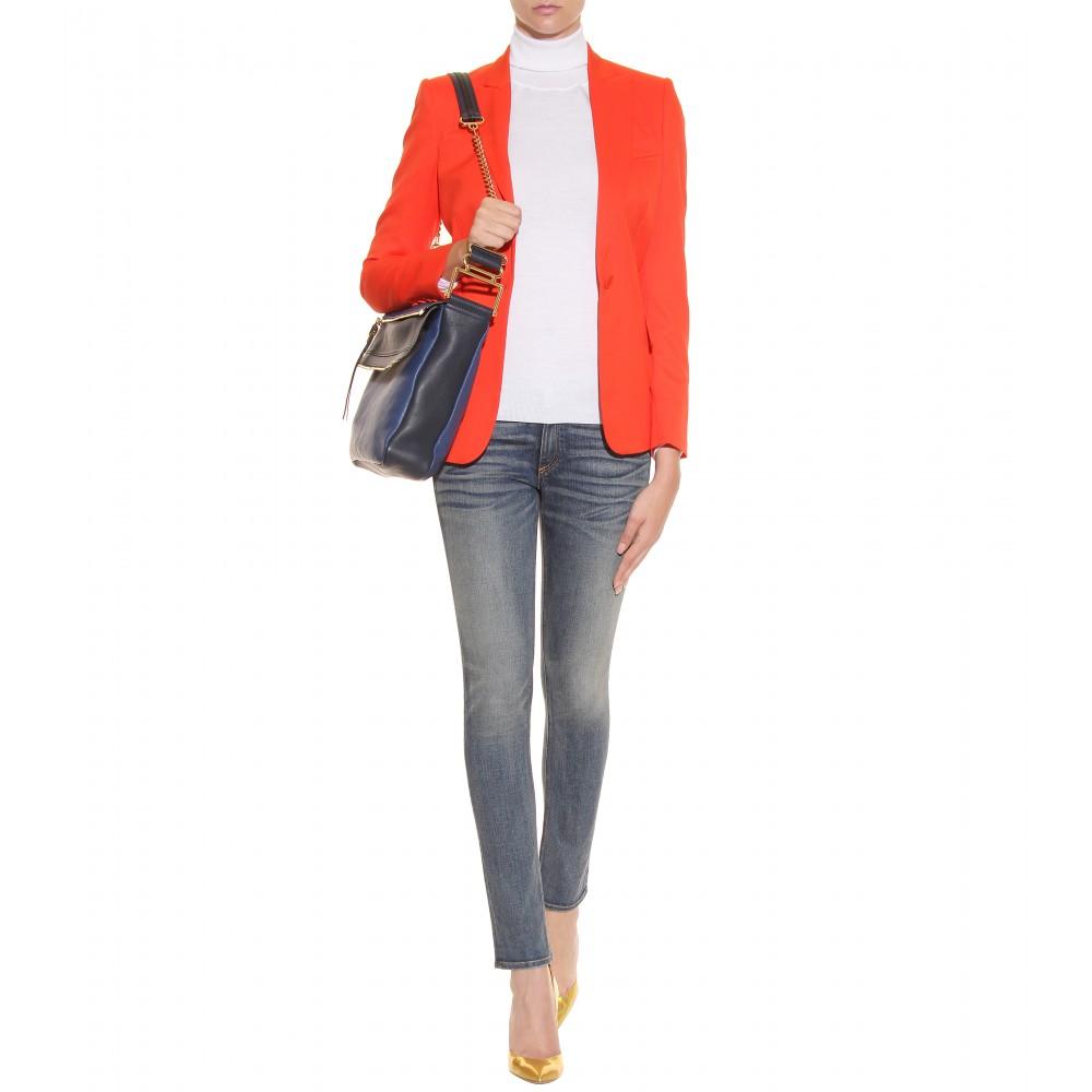 Chlo�� Vanessa Medium Leather Shoulder Bag in Blue (royal navy)   Lyst