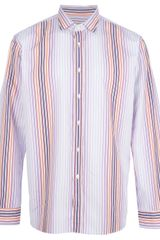 Etro Striped Button Down Shirt - Lyst