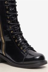 Giuseppe Zanotti Blok Spike Back Laceup Leather Boots in Black - Lyst