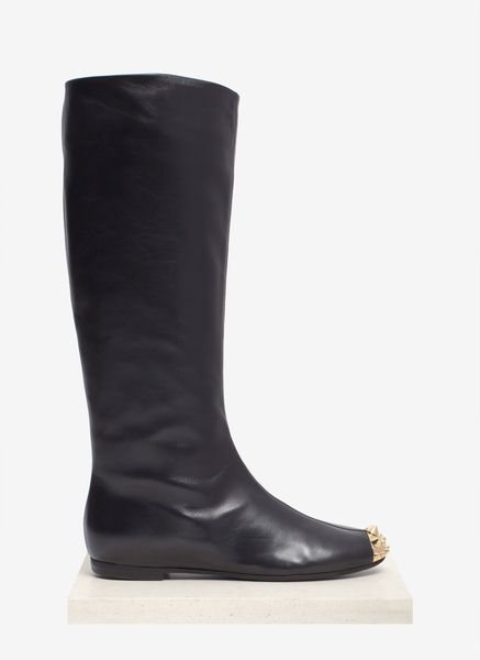 Giuseppe Zanotti Spikedtoe Leather Boots in Black - Lyst