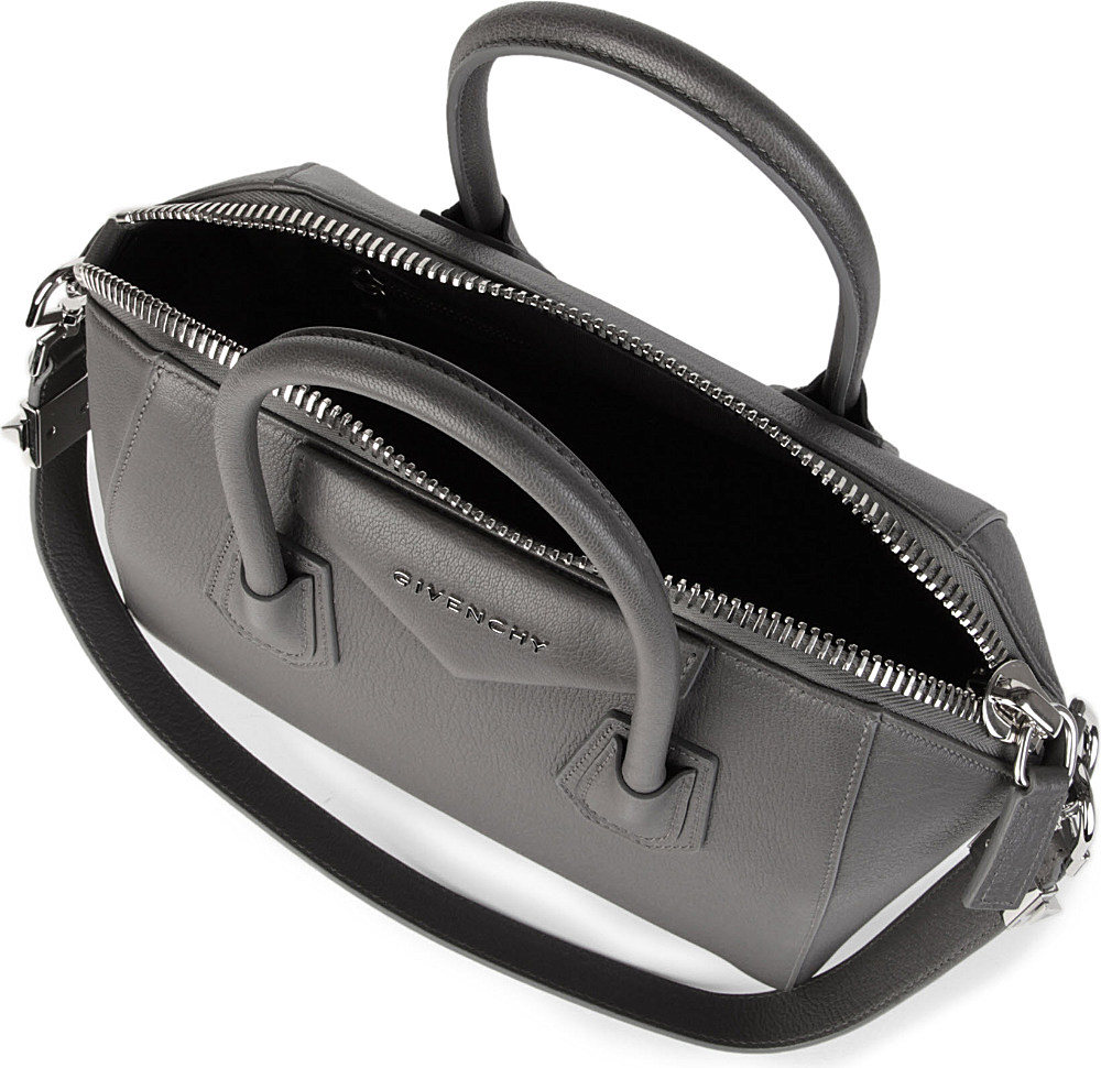 dee3083ff04c Givenchy Antigona Small Grainy Leather Tote in Gray - Lyst