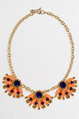 J.Crew Factory Stone Fan Necklace - Lyst