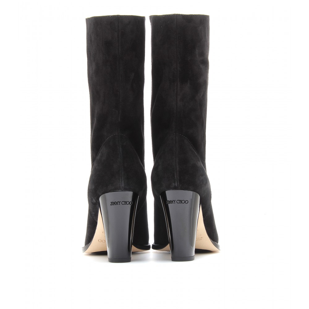 2014 new cheap price latest collections for sale Jimmy Choo Velvet Mid-Calf Boots sale shop txp0PmS41