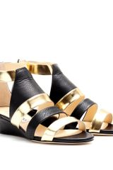 Jimmy Choo Brook Leather Strap Wedges - Lyst