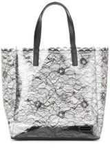 Marc By Marc Jacobs Lace Print Transparent Shopper - Lyst
