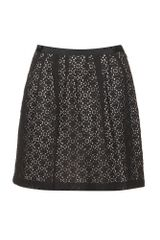 Marc By Marc Jacobs Collage Lace Skater Skirt - Lyst
