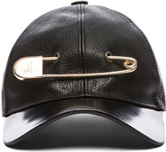 Marc Jacobs Leather Pin Cap in Black - Lyst