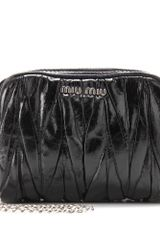 Miu Miu Matelassé Leather Mini Shoulder Bag - Lyst