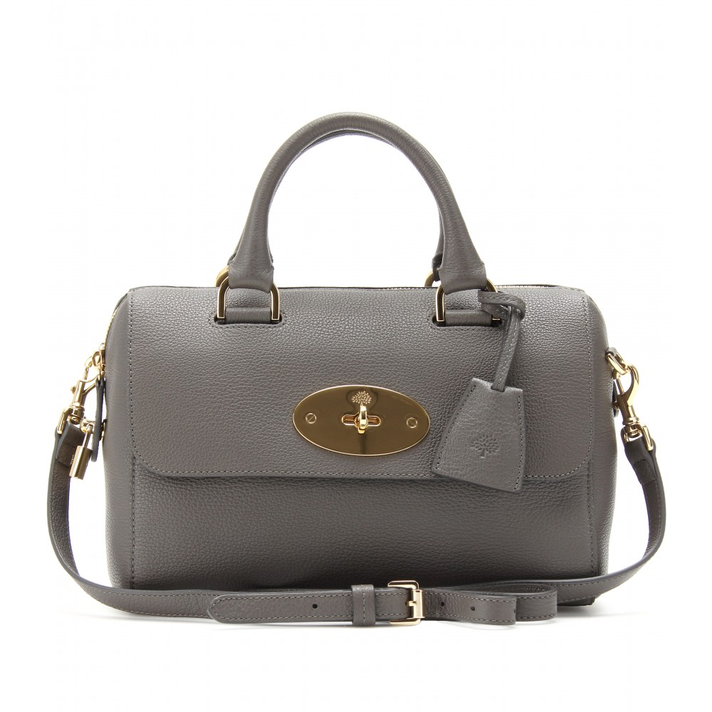 Lyst - Mulberry Small Del Rey Leather Tote in Gray 833a4f27d6c39