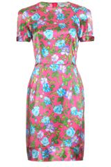 Nina Ricci Print Silk Dress - Lyst
