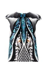 Peter Pilotto Luna Printed Silk Shell Blouse - Lyst