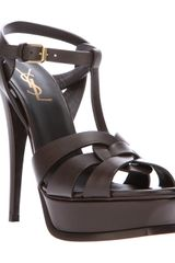 Saint Laurent Heeled Sandal - Lyst